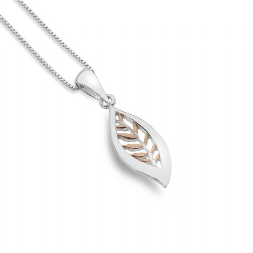 Falling Leaf Pendant Sterling Silver 925 Hallmarked All Chain Lengths